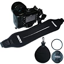 First2savvv OSAS0101 Quick Release Professional Shoulder Sling Strap for Nikon D7000 D90 D5100 D5000 D3100 D3000 D700 D300s D3X D3S D800 D800E D3200 D4 D600 D5200 COOLPIX P7100 COOLPIX P510 COOLPIX L310 COOLPIX L810 COOLPIX P520 COOLPIX L820 Film SLR Camera F6 D7100 COOLPIX L320 with UV lens filter protection bag case