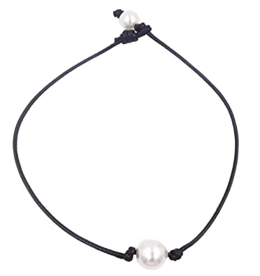 collier ras de cou cordon noir