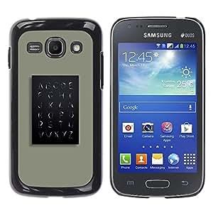 Be Good Phone Accessory // Dura Cáscara cubierta Protectora Caso Carcasa Funda de Protección para Samsung Galaxy Ace 3 GT-S7270 GT-S7275 GT-S7272 // School Teach Teacher Minimalist