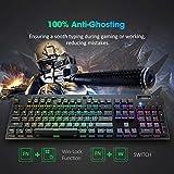 PICTEK Mechanical Gaming Keyboard, 7 LED Lighting