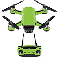 Skin for DJI Spark Mini Drone Combo - Solid Lime Green| MightySkins Protective, Durable, and Unique Vinyl Decal wrap cover | Easy To Apply, Remove, and Change Styles | Made in the USA