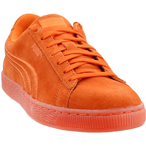 PUMA Suede Classic Badge ICED Fashion Sneaker, Golden Poppy, 9 M US