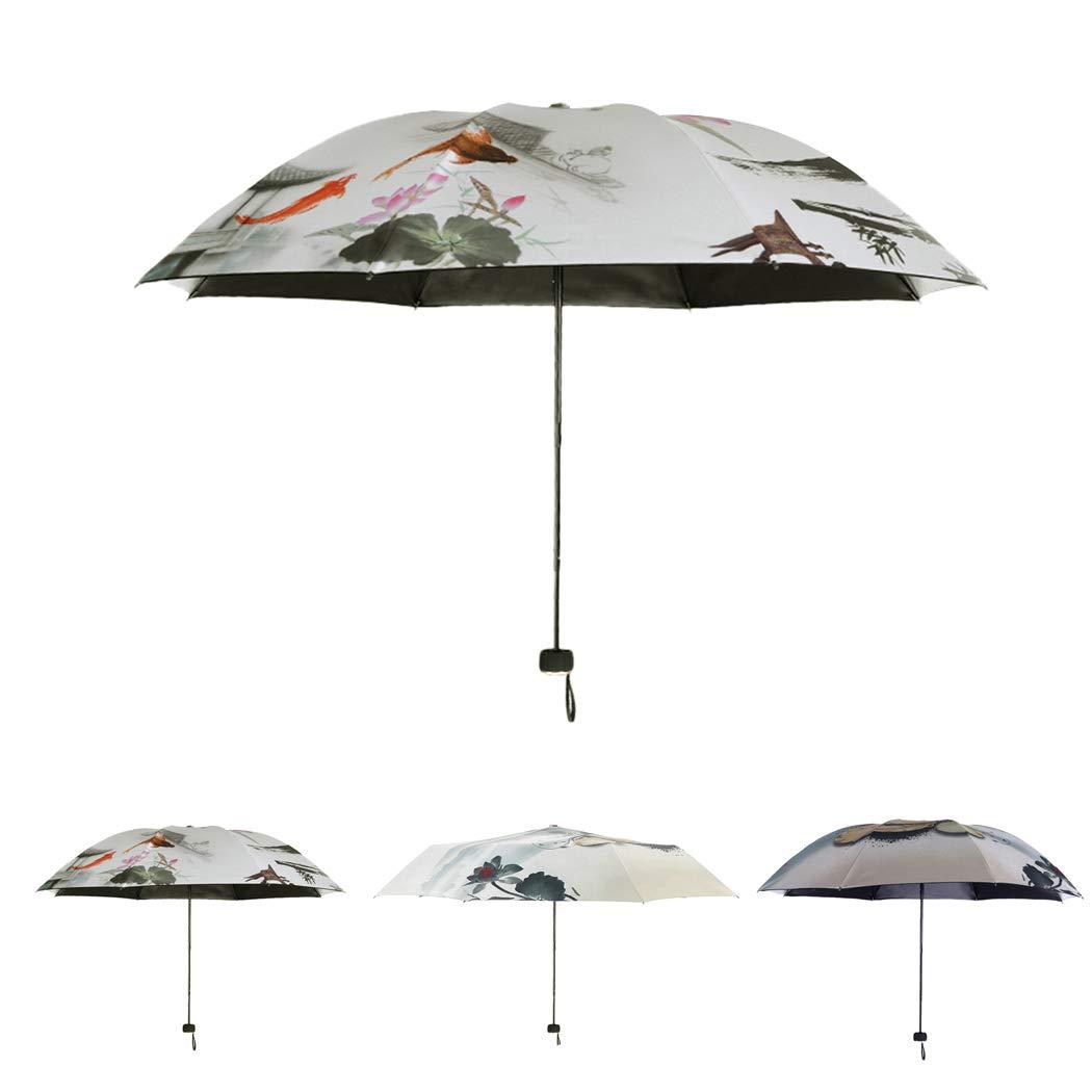 8fe34d385a4f Amazon.com: Fansport Sun Umbrella Anti UV Lightweight Folding ...