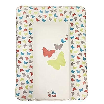 Colchón Cambiador de Bebé Blando de Petit Chat 70 * 5 * 50 cm- modelo Mariposas