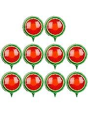 Toyvian Fruit Balloons - 18-inch Watermelon Balloons for Birthday Wedding Decoration (Watermelon) - 10pcs