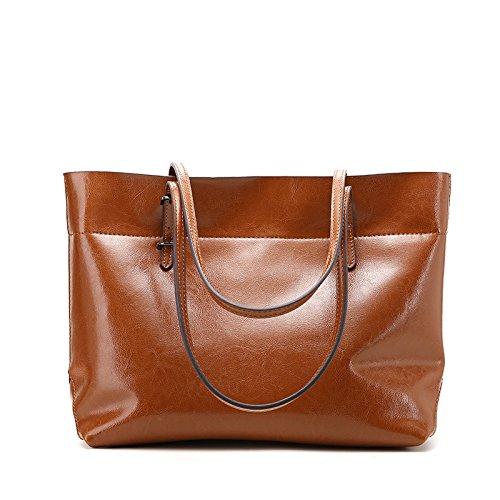GUANGMING77 _Tasche Handtasche Schultertasche Hand Brown B bFn8A