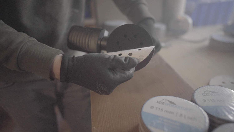 Feuilles abrasives 10 x grain 40//60//80//120//180//240 Diam/ètre : 125 mm 10 x grain 40//60//80//120//180//240 Pour ponceuse excentrique Papier abrasif Lot de 60 disques abrasifs professionnels