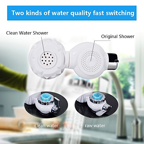 Faucet Water Filter,Tap Water Purifier Filter with 7 size Faucet interface for Kitchen And Bathroom Sink, Carbon Filter with 0.01 Micron 7 Stage Filtration Ceramics Filter Lasts 3-6 Months by Tongtu (Image #7)