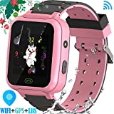 YENISEY Kids Waterproof GPS Smartwatches Phone - WiFi GPS LBS Tracker Locator 1.4' Touch Screen Wrist Watch with SOS Call Voice Chat Pedometer Camera Alarm Clock for Back to School Boys Girls