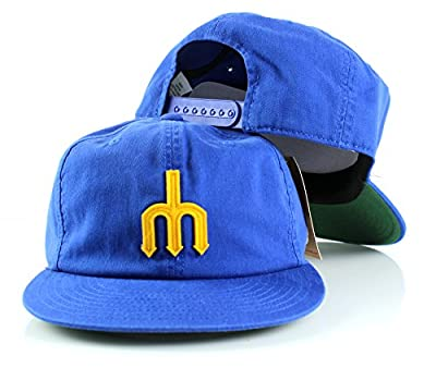 Seattle Mariners Basic Retro Cotton Twill Adjustable Snapback Hat
