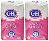 C&H, Cane Sugar, Granulated White, 4 Pound Bag (Pack of 2)