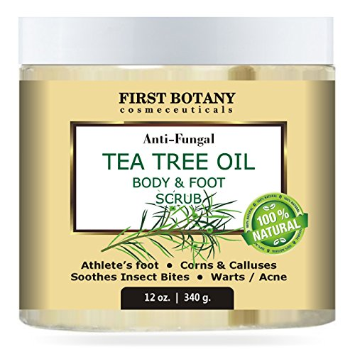 100-Natural-Anti-Fungal-Tea-Tree-Oil-Body-Foot-Scrub-12-oz-with-Dead-Sea-Salt-Best-for-Acne-Dandruff-and-Warts-Helps-with-Corns-Calluses-Athlete-foot-Jock-Itch-Body-Odor