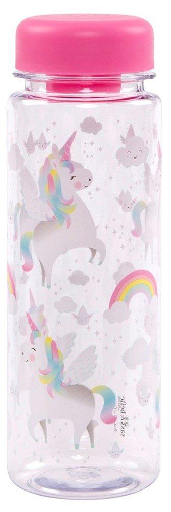 Rainbow Unicorn Clear Water Bottle, 500ml B075PF3PJX