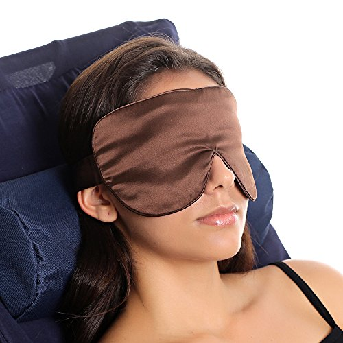 (Elma Pure 19mm Mulberry Silk Eye Mask Blindfold - Travel Sleep Adjustable Lightweight Breathable Silk Eyeshade Ficial Beauty - 100% Silk Floss Filled)
