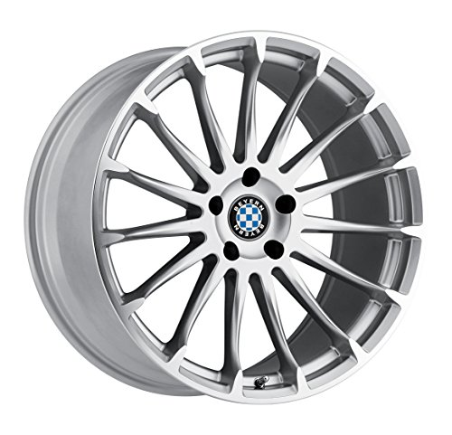Beyern AVIATIC Silver Wheel with Painted Finish (18 x 8.5 inches /5 x 120 mm, 15 mm Offset)