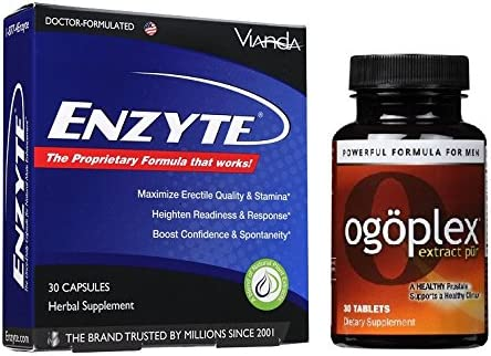 Enzyte Ogoplex Natural Male Enhancement Prostate Climax Enhancement – 1 Month of Each