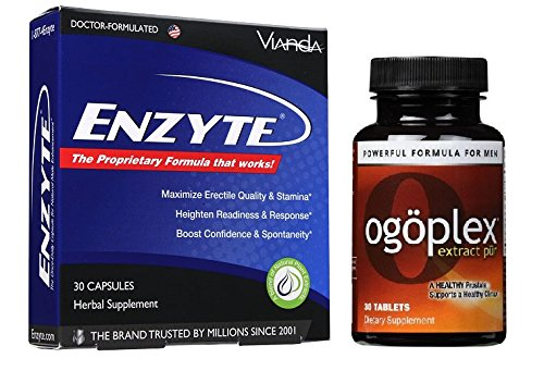 Enzyte & Ogoplex: Power Duo | Enzyte Original + Ogoplex Prostate Support - Dr.-Formulated w/ Asian Ginseng Root, Horny Goat Weed, Swedish Flower Pollen by Enzyte, Ogoplex