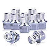 Wheel Lock, Udiag lock key Auto Tools Tire Anti-Theft Wheel Lock Screw Keys only for VW Cars (10PCS)