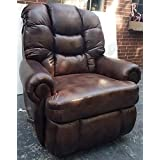 1407-4808-21 Lane Stallion Wallsaver Big Man Comfort King Recliner. Holds weights of up to 500 l bs. This Is A Very Smooth Faux Leather Looking Fabric