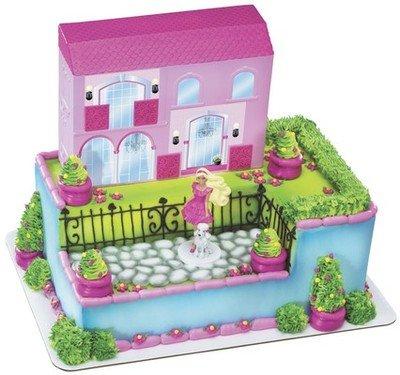 Barbie DREAM HOUSE Cake Topper Decoration Party Princess Cupcake Kit Set  Doll