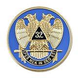 32nd Degree Scottish Rite Masonic Round Blue Auto