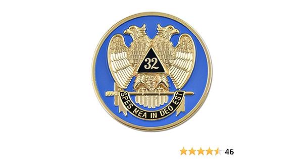 2 Scottish Rite 32nd Degree Masonic Mason Square Compasses Auto Car Emblems