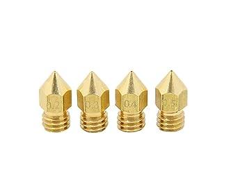 XUBF-3D, Boquilla 0.4mm 0.3mm 0.2mm 0.5mm Impresoras 3D de Cobre ...