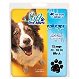 Soft Claws Dog and Cat Nail Caps Take Home Kit - X-Large - Black