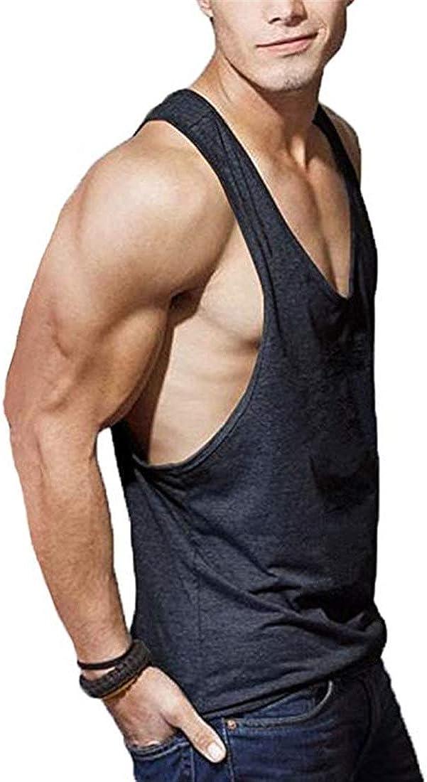 COWBI Stringer Tr/ägershirt Tank Top Herren Bodybuilding Fitness Gym Sport Hemd Weste Basic