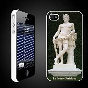 French Palace of Versailles- Statue of Le Poeme Satirique iPhone 4/4s hard case WHITE
