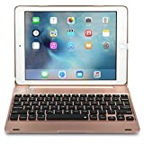 iPad Pro 9.7 / iPad Air 2 keyboard case, [NEW] COOPER KAI SKEL Bluetooth Wireless Keyboard Portable Laptop Macbook Clamshell Case Cover with 14 Shortcut Keys for Apple iPad Air 2 / Pro 9.7 (Rose Gold)
