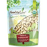 Food to Live Certified Organic Cashews W-240 (Whole, Raw, Kosher) (8 Ounces)
