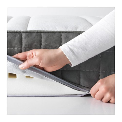 IKEA MORGEDAL Queen Size Foam mattress, firm, dark gray 826.232311.3438