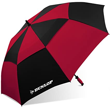 9344b5513e6d Dunlop Double Canopy Golf Umbrella-7800-dl Blkrd, Black/Red
