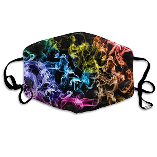 Women & Men Cool Earloop Half Face Mouth Mask Face Mask Dustproof Respirator - Comfort Windproof Cycling Mouth Mask for Kids Youth Boys Girls (Colored Smoke Black)