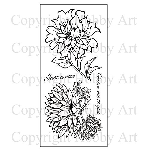 Hobby Art Clear Vintage Flowers Stamps CS119D