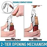 Zulay Waiter's Corkscrew Bottle Opener - 3-in-1