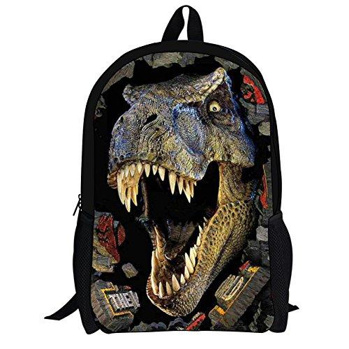 430be0d0662c UNICEU T Rex Dinosaur Printing Backpack Kids School Bag Cool Children  Bookbag for Teenagers Boys Back