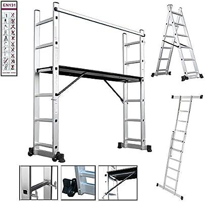 Aluminio Multi Andamio multifunción Escalera escalera Andamio Andamio Escalera escalera – Escalera.: Amazon.es: Bricolaje y herramientas