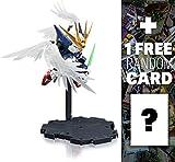 XXXG-00W0 Wing Gundam Zero (EW Ver.): Gundam x Bandai NXEDGESTYLE Action Figure Series + 1 FREE Official Japanese Gundam Trading Card Bundle