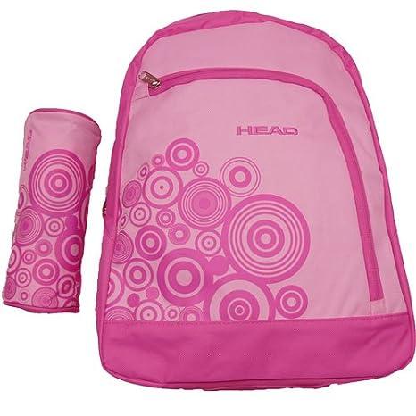 Head - Kit de mochila y estuche con correas ajustables, color rosa: Amazon.es: Deportes y aire libre