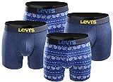 LEVIS Herren Boxershort Print Limited Black Edition 4er Pack - mazarine blue 2.0 - Gr. S