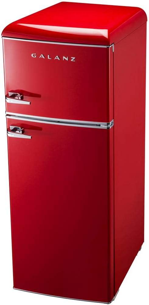 Nevera de aspecto retro, eficiencia energética moderna, 2-3 estantes ajustables, refrigeración directa,
