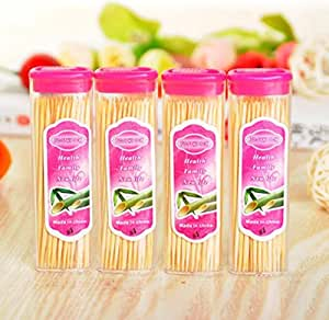 ZZ 20PC portable fine toothpick, nature refined bamboo toothpick