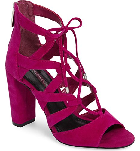 BCBGeneration Womens RAMEENA Suede Open Toe Casual Ankle Strap, Purple, Size 6.5