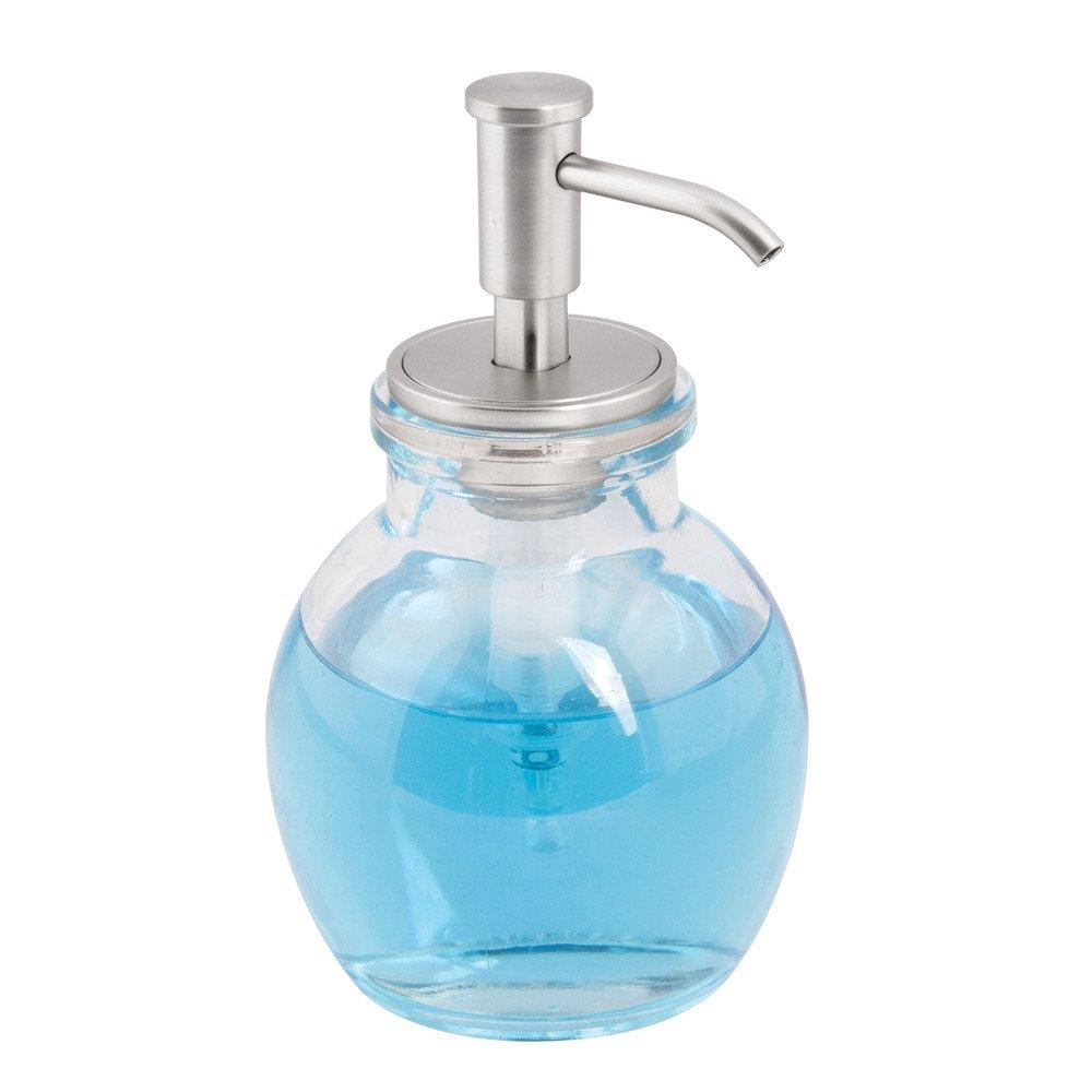 InterDesign - Westport - Dosificador de jabón líquido, de Vidrio - Chico - Claro/Pulido: Amazon.es: Hogar