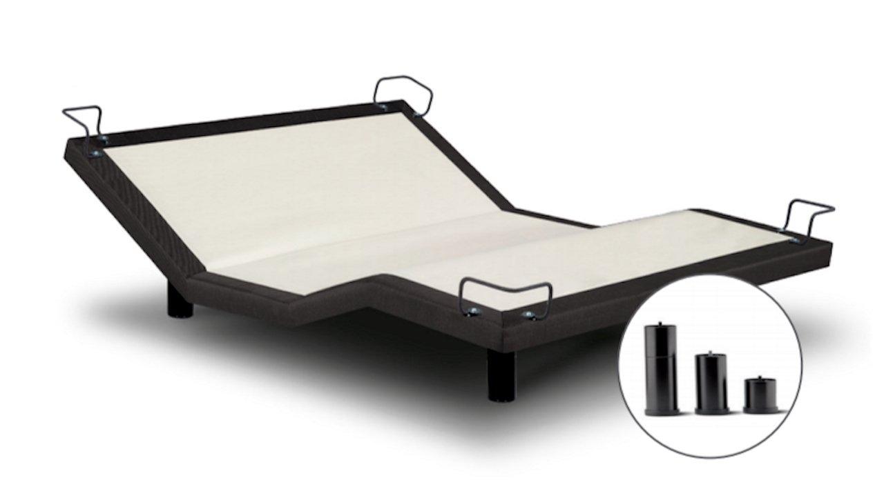 Reverie iDealBed 5i Adjustable Bed Base, Wireless, Massage, Zero Gravity, Anti Snore, Dark Grey Finish (TwinXL)