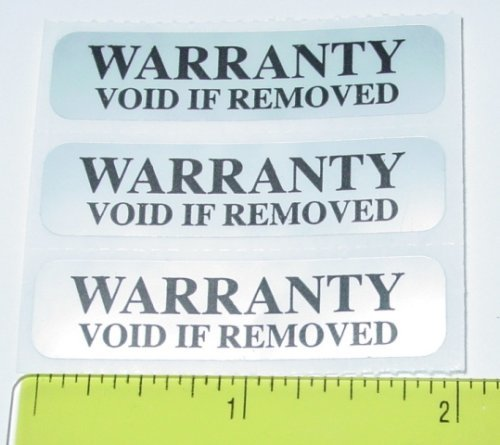 (Security Label. Warranty Void Tamper Evident Seal / Labels by PCLiquidations.com)