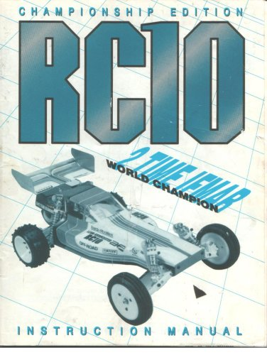 Team Associated RC10 CHAMPIONSHIP 1/10th scale electric buggy instruction manual
