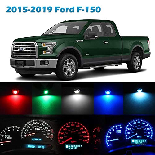 Partsam Speedometer Indicator LED Light Kit Instrument Panel Gauge Cluster Dashboard LED Light Bulbs Compatible with Ford F-150 2015 2016 2017 2018 2019 - Colorful 50Pcs